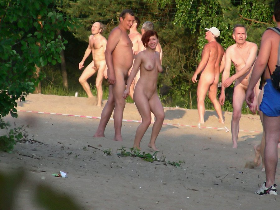 Beach spy revealing a part of nudist camp