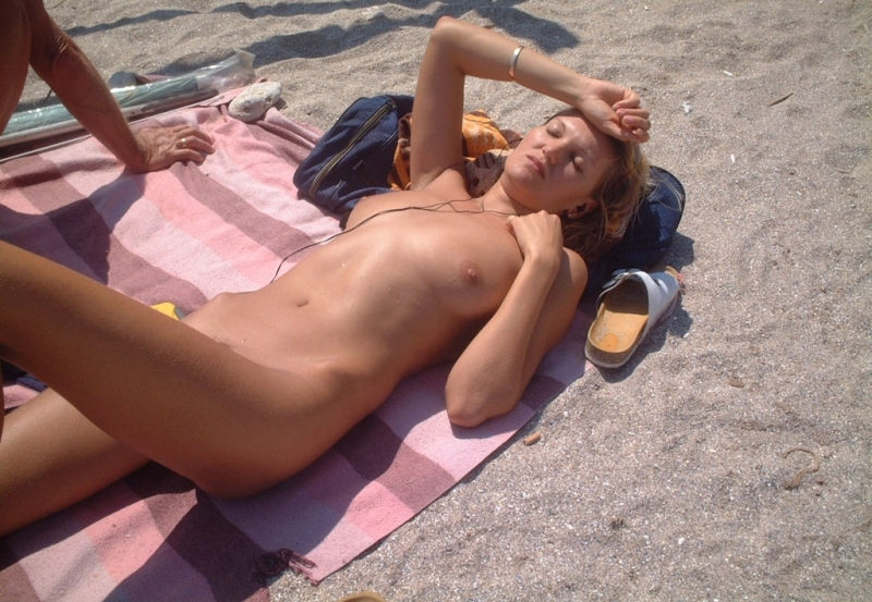 Sleeping naked on the beach