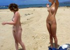 Nude girls caught at the beach