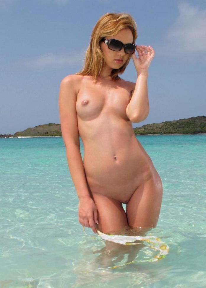 Blonde beach girls pity
