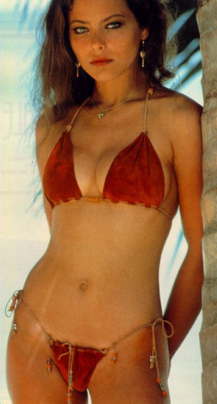 Sexy girl wearing sexy skimpy bikinis