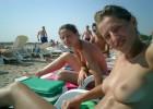 Beach teens posing topless for their boyfriends