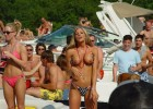 Hot blonde teen showing her tits on a public beach