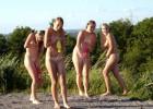 Naughty teens having fun in the summer camp