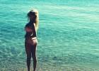Sexy woman posing in the ocean